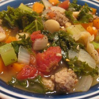 Butter Bean, Sausage & Kale Soup
