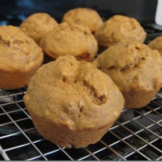 Banana Nut Pumpkin Butter Muffins with Flax Recipe