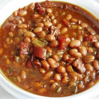 Slow Cooked Chipotle Beer Baked Beans, 4 Points+