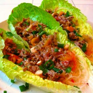 Thai Coconut Lime Lettuce Wraps