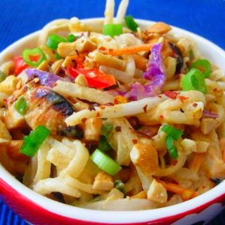Spicy Peanut Noodles with Chicken, 7 points+