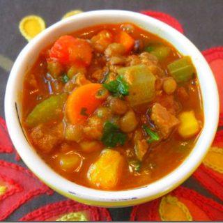 Vegan Soyrizo Lentil Soup