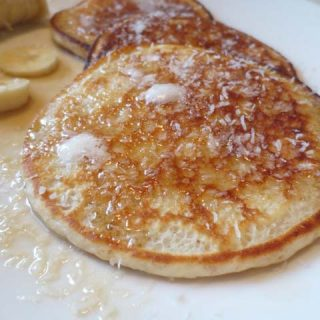 Coconut Buttermilk Pancakes, 2 points+