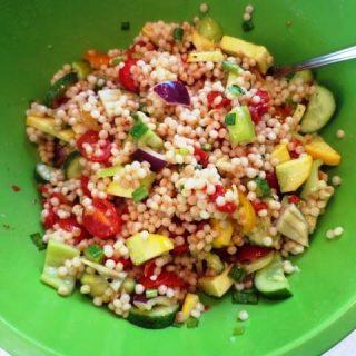 Vegetable Israeli Couscous Salad, points+