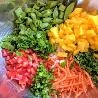 Shrimp, Vegetable & Lime Chopped Salad