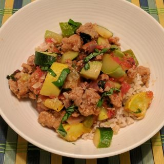 Summer Squash and Sausage Skillet