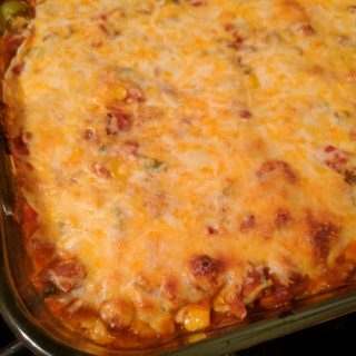 Turkey Quesadilla Casserole