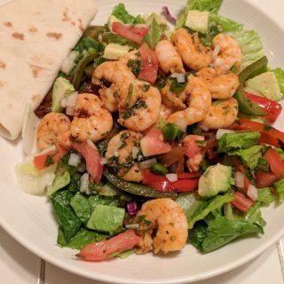 Fajita Shrimp Salad Recipe