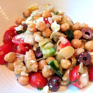 Chickpea Panzanella Salad & Weekly Menu