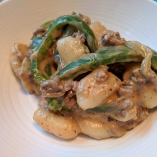 Philly Cheese Steak Gnocchi