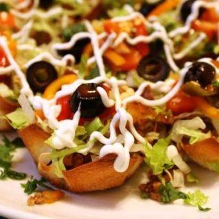 Individual Taco Salad Cups