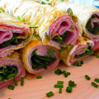 Ham & Cheese Crepe Roll Ups, 1 points+