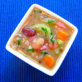 Smoky Ham & Bean Soup, 4 points+