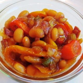 Quick BBQ & Bacon Baked Beans, 3 points+
