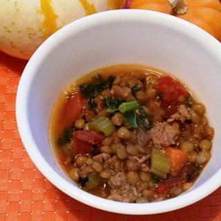 Lentil Soup with Sausage & Kale