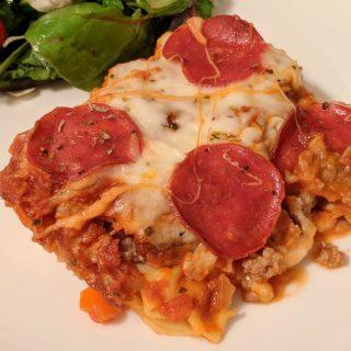 Tortellini Pizza Casserole