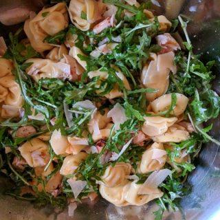 Tortellini, Chicken & Arugula Pasta Salad