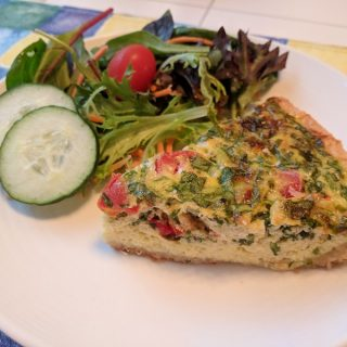 Cheesy Veggie & Herb Quiche Recipe